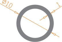 Алюминиевая труба круглая 10*1 / AS