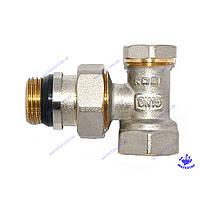 Кран радиаторный нижний угловой с системой антипротечка 1/2х1/2 KOER