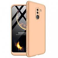 Пластиковая накладка GKK LikGus 360 градусов для Xiaomi Pocophone F1 Золотой (hub_aJAA59321)