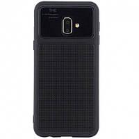 TPU чехол Glossy Half для Samsung Galaxy J4+ (2018) Черный (2-00000027249_2)