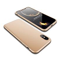 Пластиковая накладка GKK LikGus 360 градусов для Apple iPhone XS Max (6.5) Gold (hub_BDBB41342)