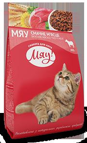 Мяу! Сухой корм для кошек с мясо, рис, овощи 11кг