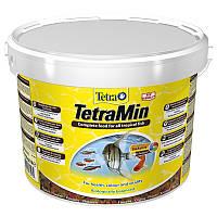 Tetra MIN для аквариумных рыб в хлопьях 10L/2,1кг