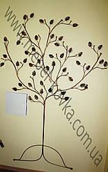 Настенная  кованая вешалка в форме дерева 2