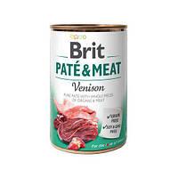 Консервы Brit Pate & Meat Dog 400 г * 6 шт - кусочки в паштете для собак (разные вкусы)