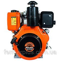 Двигатель дизельный Vitals DM 10.5sne (10 л.с., ручной стартер, сьем. цилиндр, шлиц Ø25мм, L=35,5м)