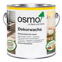 Универсальное цветное масло Osmo Dekorwachs Intensive tone 3186 белое матовое 2,5 л