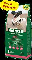 Nutrican Adult 15+2 кг корм для собак