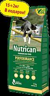 Nutrican Perfomance 15+2 кг корм для  активных собак