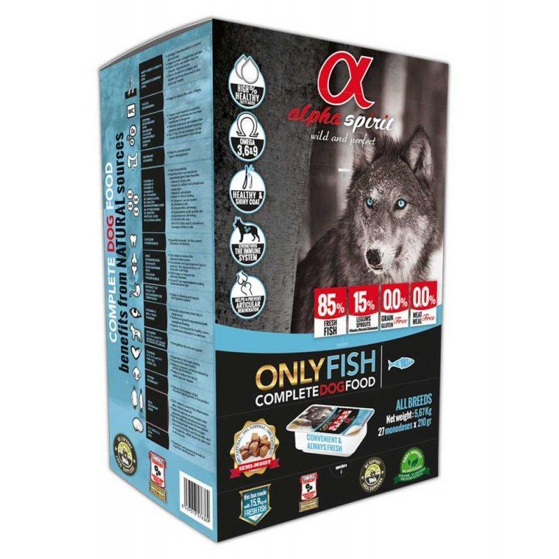 Alpha Spirit Only Fish 9,45 кг полувлажный корм для собак всех пород