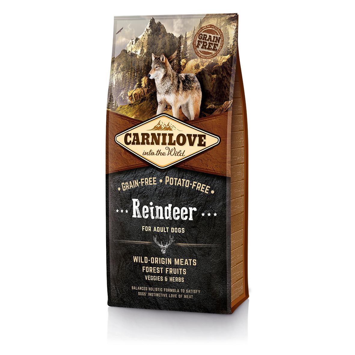 Carnilove Reindeer For Adult Dogs 12 кг - беззерновой корм для собак  с мясом северного оленя