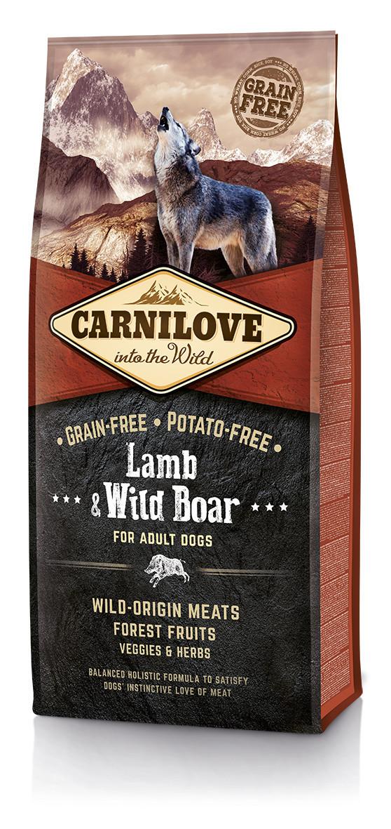 Carnilove Lamb & Wild Boar For Adult Dogs 12 кг - беззерновой корм для собак  с ягненком и диким кабаном