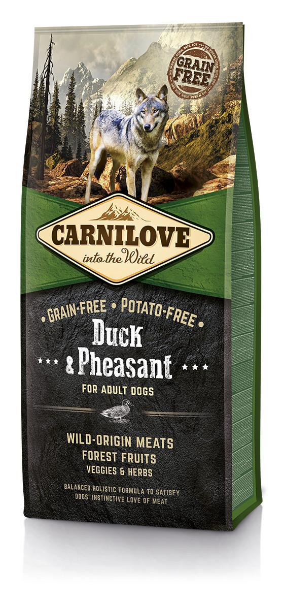 Carnilove Duck & Pheasant For Adult Dogs 1,5 кг - беззерновой корм для собак с уткой и фазаном