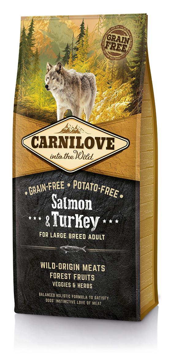 Carnilove Salmon & Turkey For Large Breed Adult 12 кг - беззерновой корм для собак крупных пород