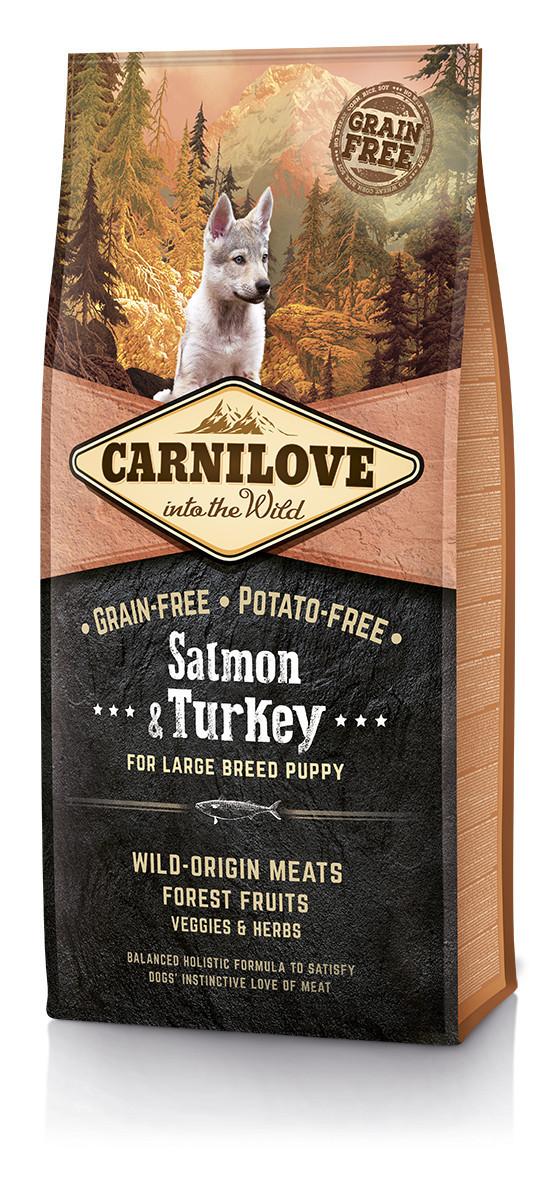 Carnilove Salmon & Turkey For Large Breed Puppy 12 кг - беззерновой корм для щенков крупных пород
