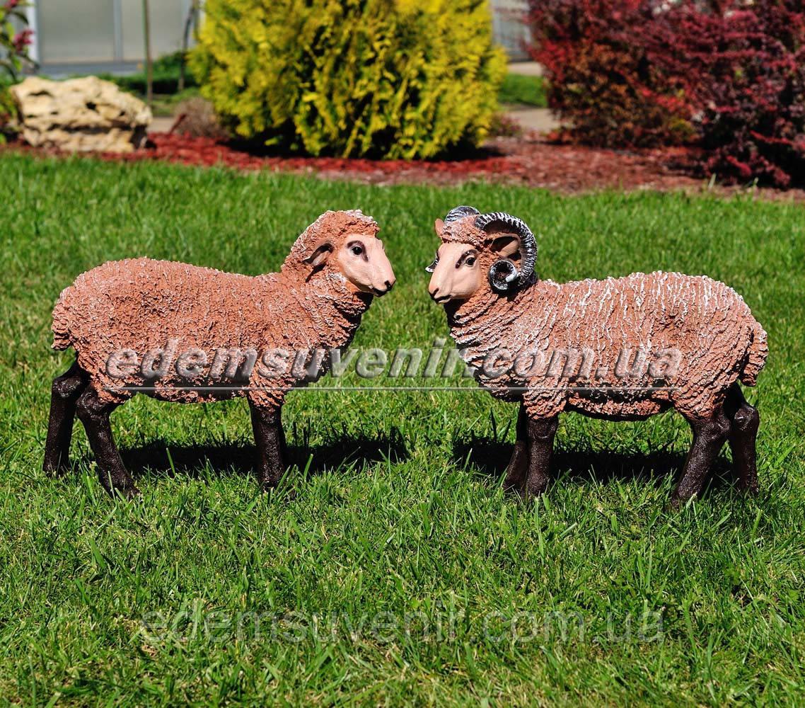 Садовая фигура Баран средний и Овца средняя