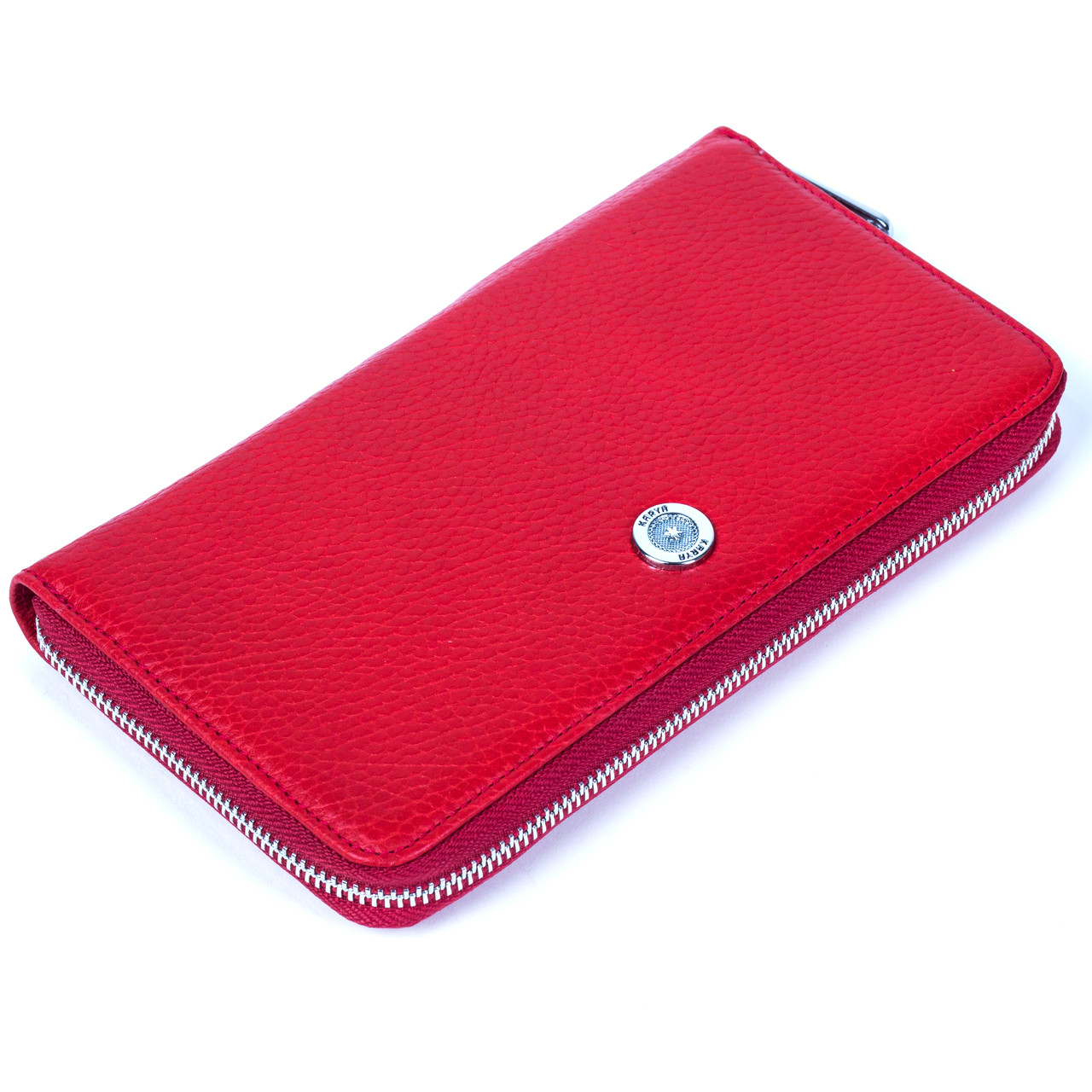 Кошелек Karya 1118-46 красный из натуральной кожи