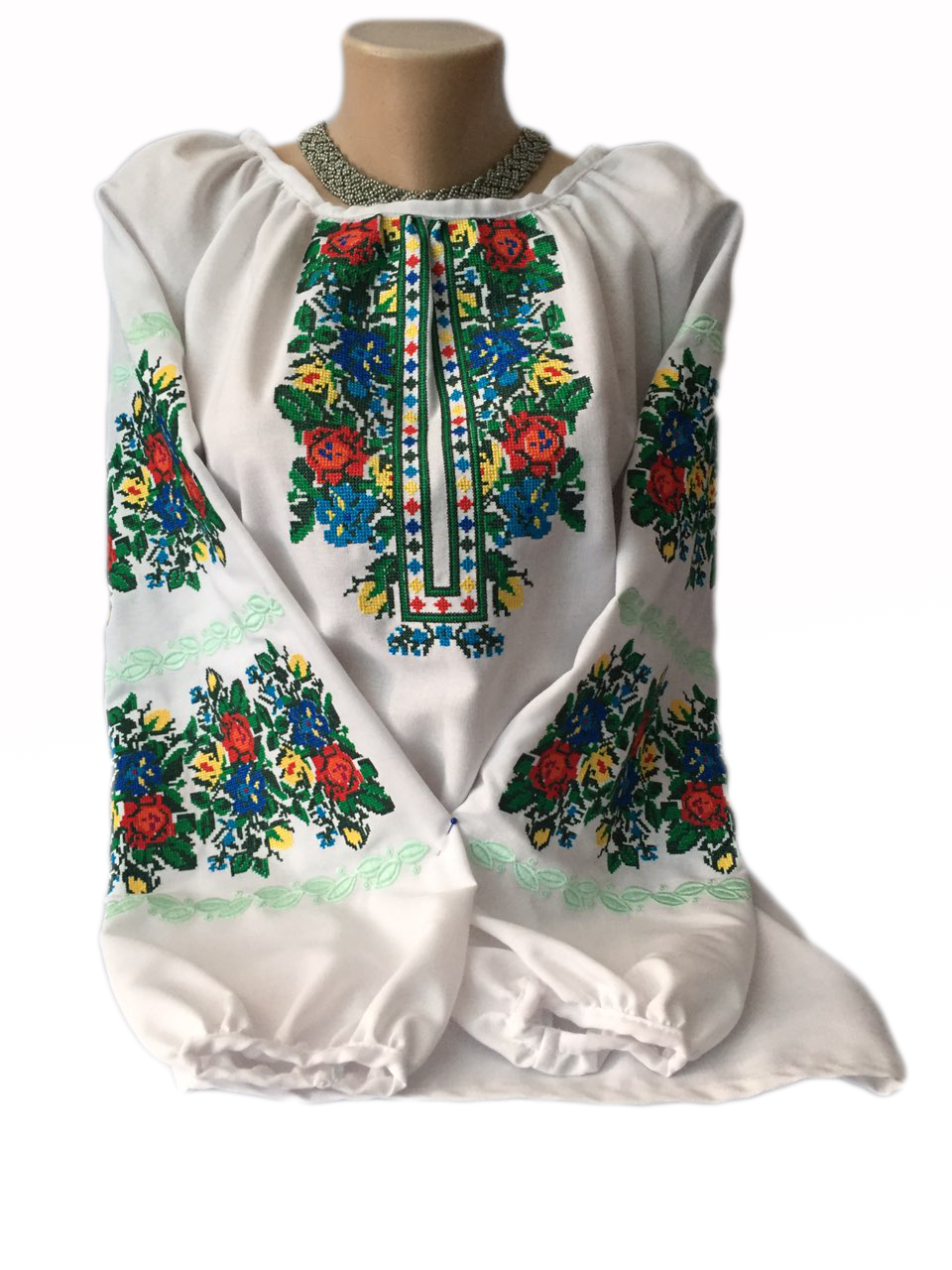 "Жіноча вишита сорочка (блузка) ""Радкліс"" (Женская вышитая рубашка (блузка) ""Радклис"") BI-0019"