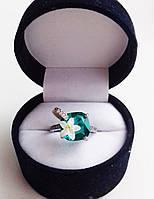 """Кольцо """"лилия в пруду"""" серебро ."""