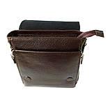 Чоловіча сумка через плече-шкіряна Desisan 344-019 месенджер кориневый, фото 4