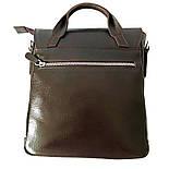 Чоловіча сумка через плече-шкіряна Desisan 344-019 месенджер кориневый, фото 3