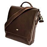 Чоловіча сумка через плече-шкіряна Desisan 344-019 месенджер кориневый, фото 2