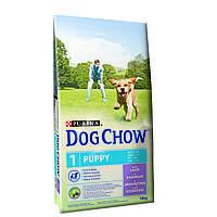Dog Chow Puppy Lamb  14кг- корм для щенков и собак мелких пород с ягненком, фото 1