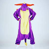 Кигуруми фиолетовый дракон (взрослый) krd0075, фото 1