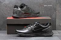 Модные кроссовки Nike Lunarlon черные, фото 1