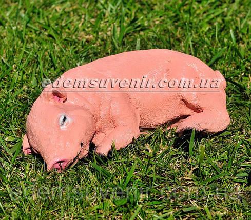 Садовая фигура Поросенок лежачий, фото 2