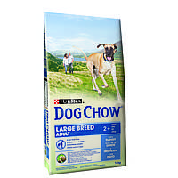 Purina Dog Chow Large Breed 14кг с индейкой и рисом - корм для собак крупных пород, фото 1