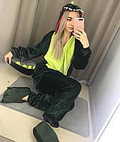 Кигуруми зеленый дракон (взрослый) krd0025, фото 1