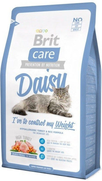Brit Care Cat Daisy 7кг-корм с индейкой для кошек с лишним весом (БЕСПЛАТНО НА ДОМ!)