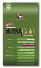 Nutra Gold Hairball control  для взрослых кошек (вывод шерсти) 5кг