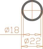 Алюминиевая труба круглая 22*2 / AS