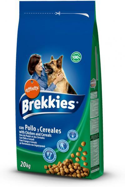 Brekkies Dog Chicken and Cereals  20кг-корм для собак на основе курицы