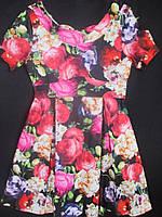 Детские летние платья с коротким рукавом.