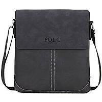 Мужская сумка Polo Vicuna черная, фото 2