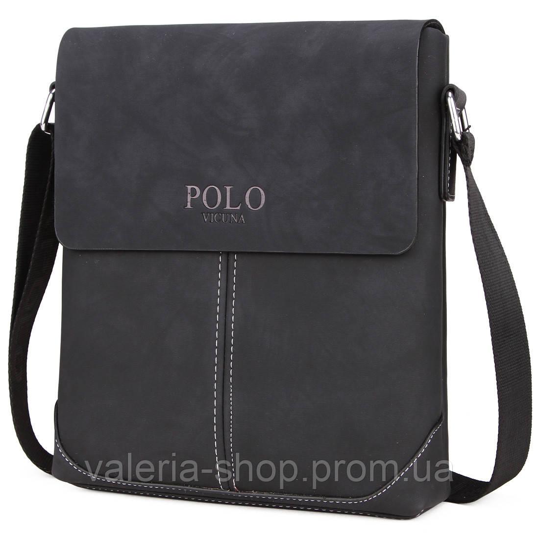Мужская сумка Polo Vicuna черная