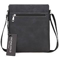 Мужская сумка Polo Vicuna черная, фото 5