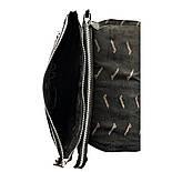 Мужская кожаная сумка почтальонка Desisan 1319-143 А4 с тиснением черный, фото 7