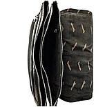 Мужская кожаная сумка почтальонка Desisan 1319-143 А4 с тиснением черный, фото 8