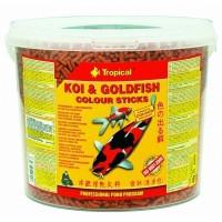 Tropical KOI & GoldFish Color Sticks  21л(1,5кг)-корм для прудовых рыб
