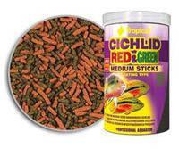 Tropical Cichlid Red and Green Medium Sticks - для цихлид, 10 л/3,6кг, 63726