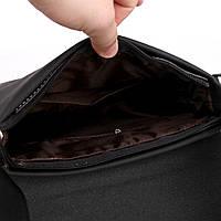 Мужская сумка Polo Vicuna черная, фото 6
