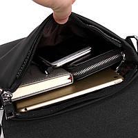 Мужская сумка Polo Vicuna черная, фото 7