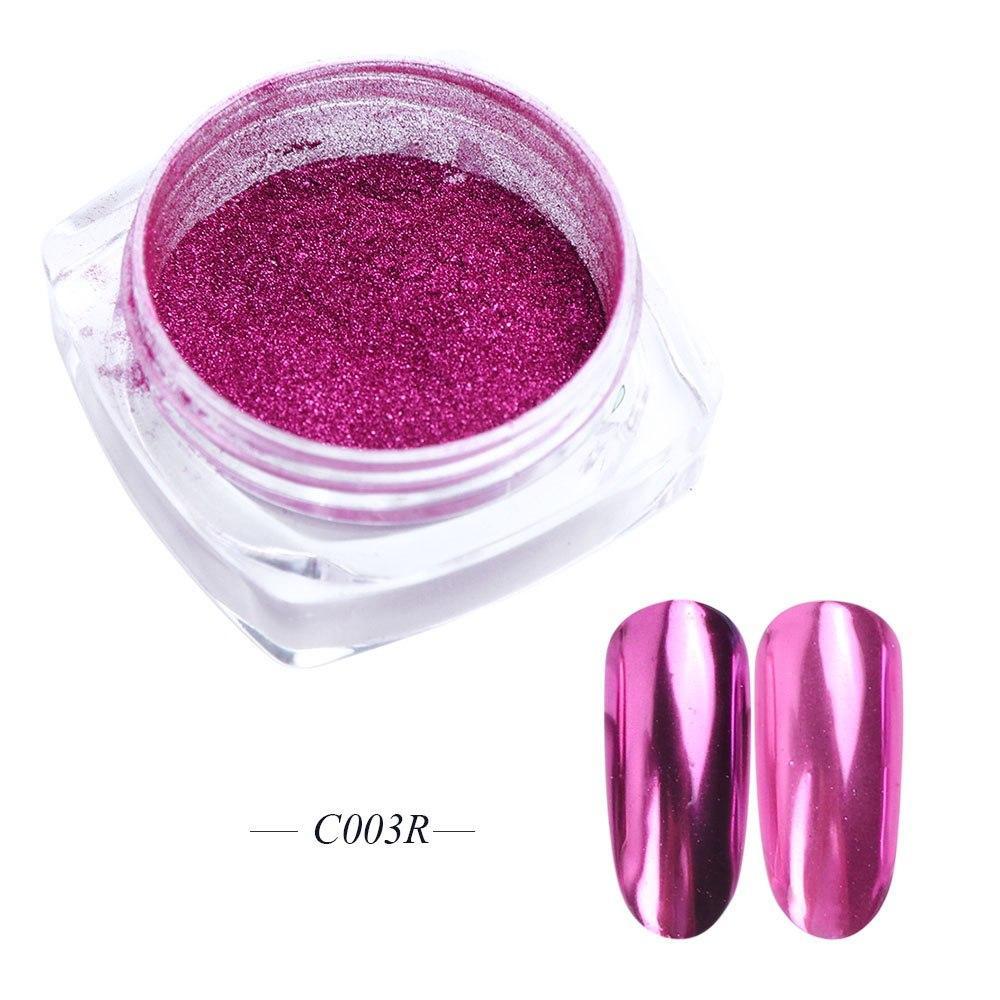 Розовая зеркальная втирка - 003 -ярко-розовая