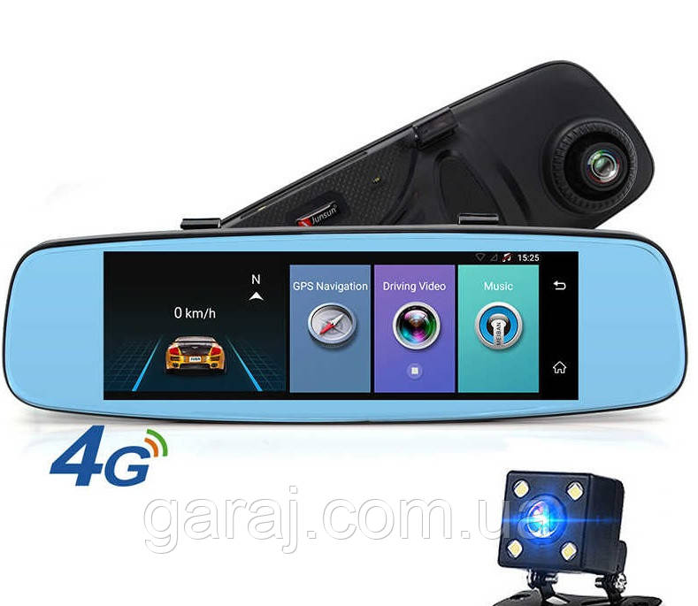"ЗЕРКАЛО ANDROID РЕГИСТРАТОР КАМЕРА ЗАДНЕГО ВИДА 6.86"" HD-T515 8MP, GPS ТРЕКЕР, 3G, WIFI, FM МОДУЛЯТОР Подробне"