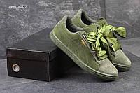 Кроссовки женские Puma Suede Bow зеленые, фото 1