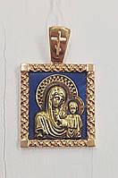 """Ладанка """"Пресвятая Богородица"""" из золота с эмалью"""